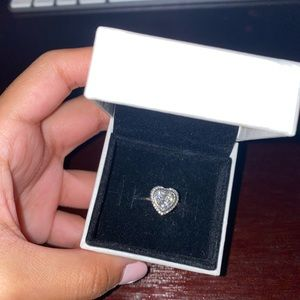 Sliver Heart Shaped Ring from Pandora